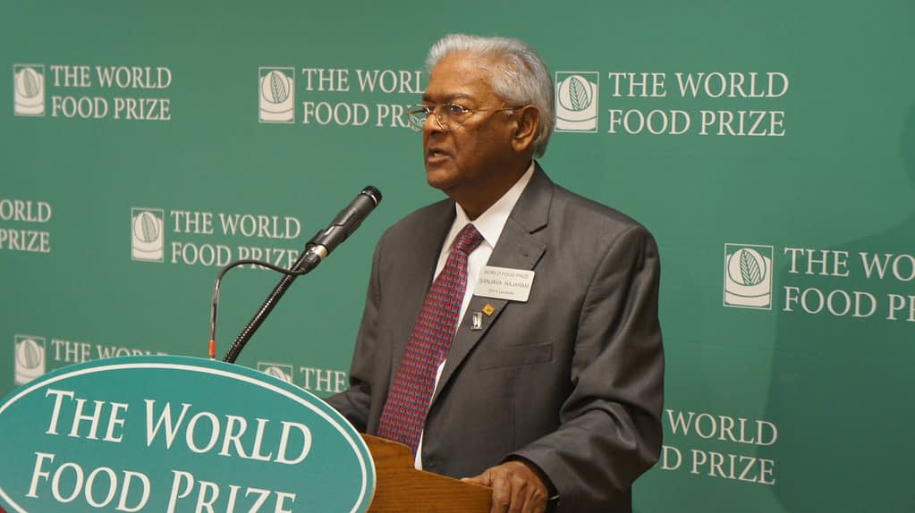 The World Food Prize 2014 was awarded to Sanjaya Rajaram for his achievements in plant research and food production. (Photo: RajaramS, CC BY-SA 4.0, via Wikimedia Commons)