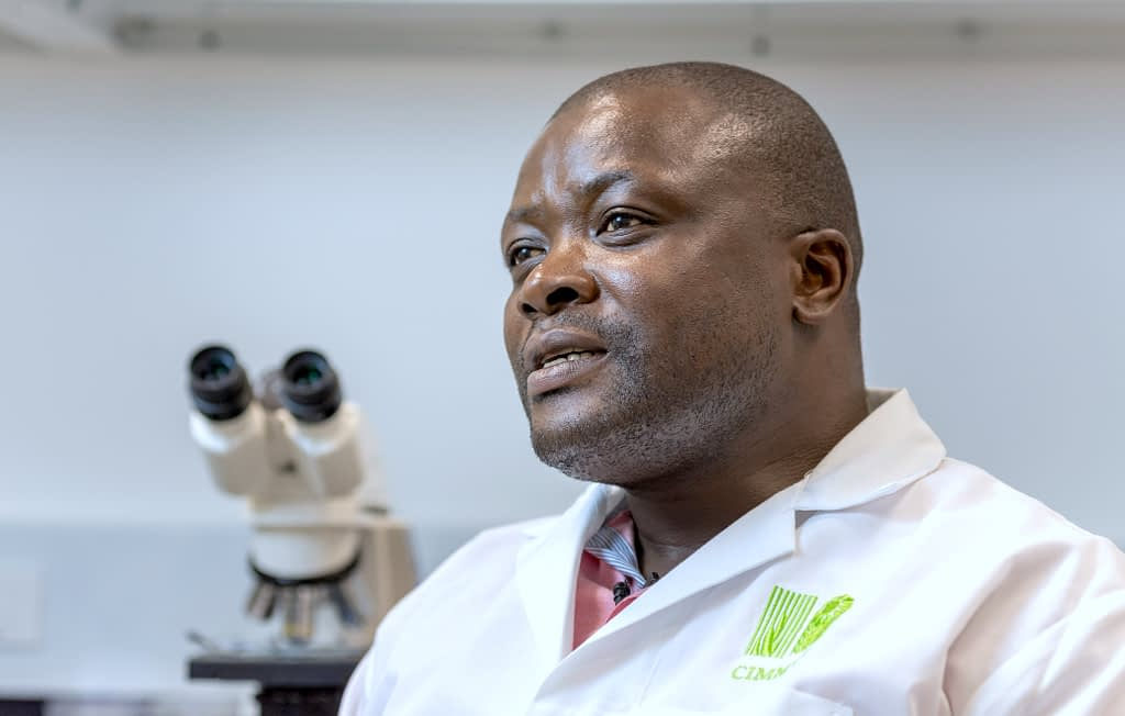 Amos Alakonya, head of CIMMYT's Seed Health unit. (Photo: Eleusis Llanderal/CIMMYT)
