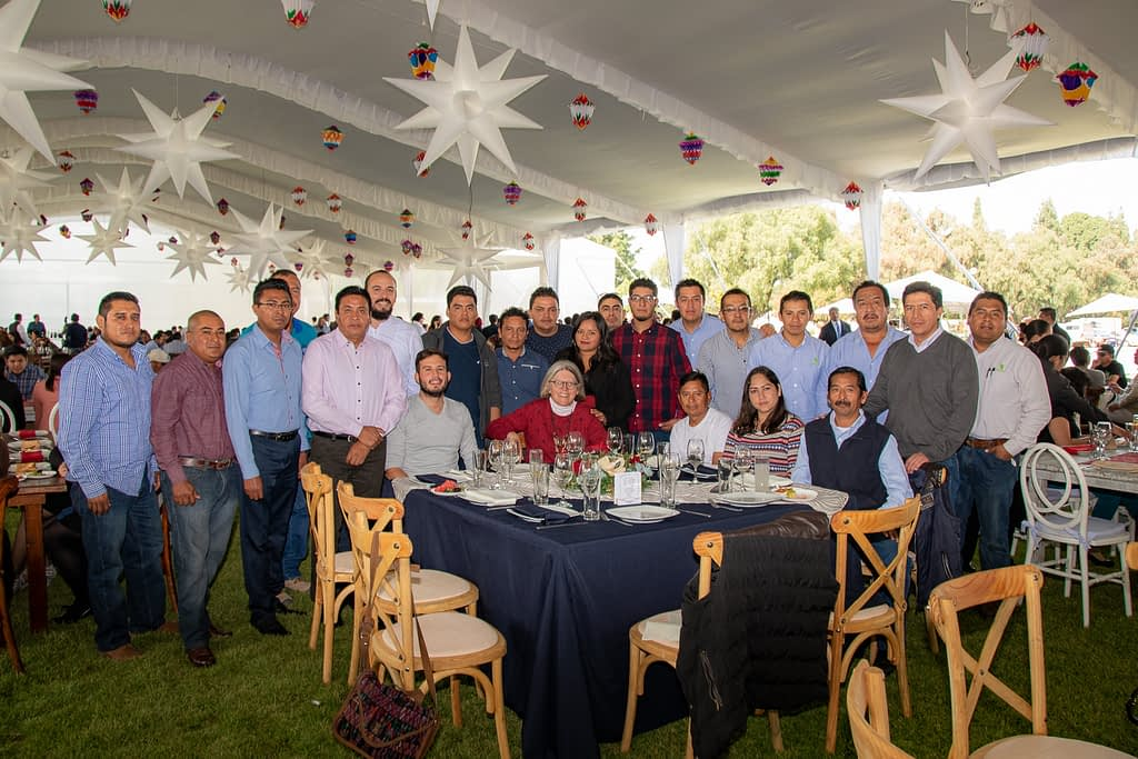 Costich and the Maize Collection team at the 2018 CIMMYT Christmas party.