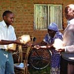Researchers consult smallholders to test demand for vitamin A-enriched maize in Kenya. (Photo: CIMMYT)