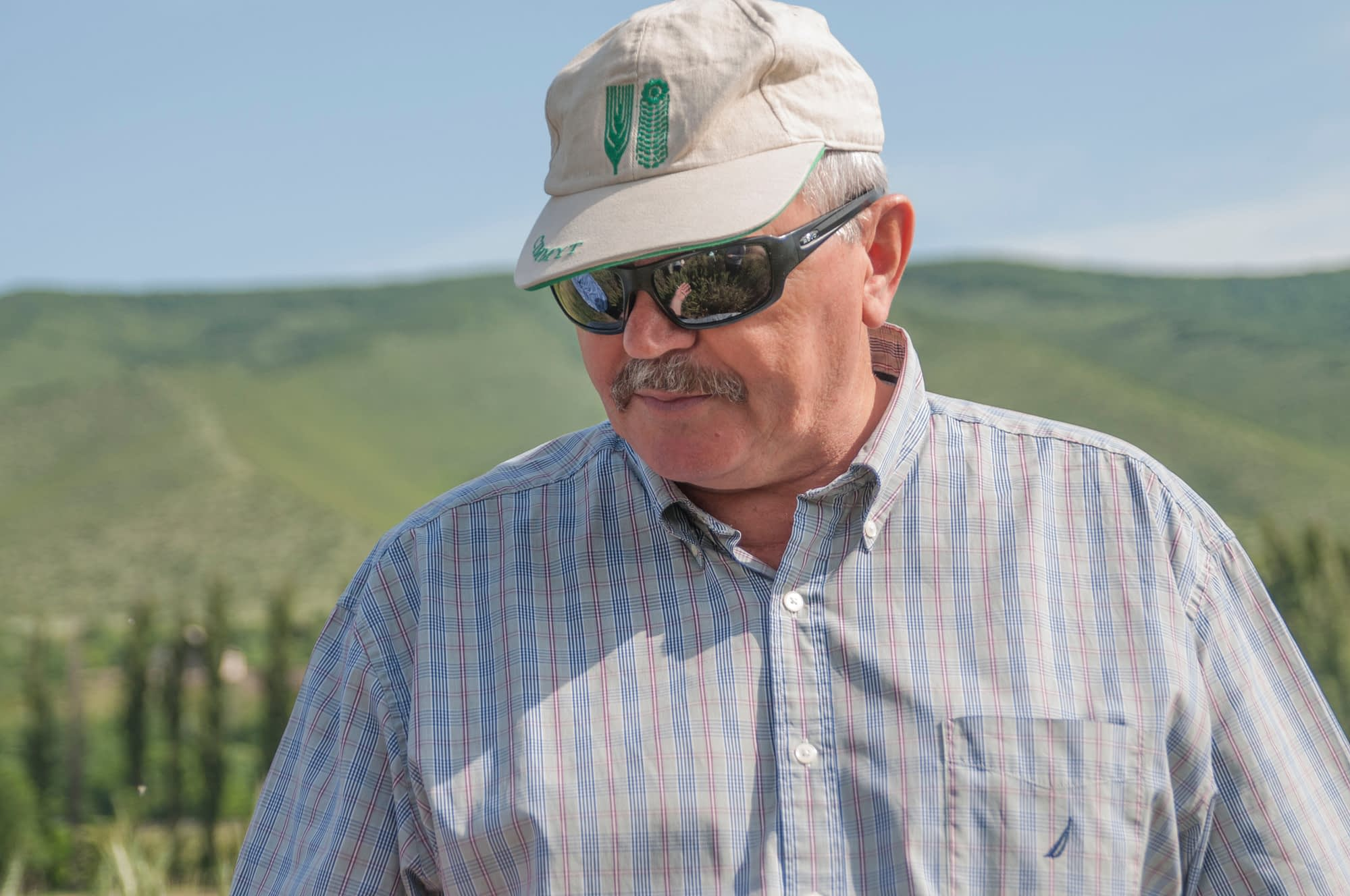 Alex Morgunov out in the field. (Photo: Alex Morgunov/CIMMYT)