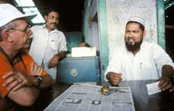 Craig Meisner (left), a CIMMYT wheat agronomist during 1990-2005, contributed significantly to CIMMYT's presence, partnerships, and achievements in Bangladesh.