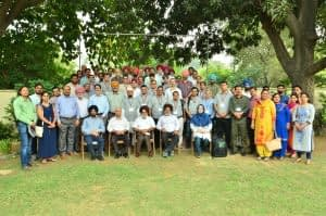 """Group photo at the """"Advanced Course on Conservation Agriculture."""" Photo: BISA/Singh, L.K."""