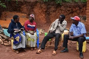 The main cast of the film (from L to R) Winfred Kyule, Damaris Kyala, Boniface Kyala and David Kyule. Photo: Brenda Wawa/CIMMYT