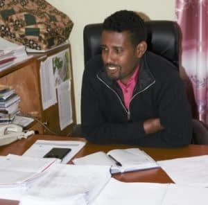 Moges Bizuneh helps lead an agricultural office in Basona District, home to more than 10,000 female-headed households, and is working to support innovation by women. Photo: CIMMYT/Mike Listman