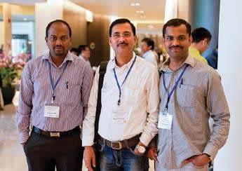 Participants and poster presenters from India, S.V. Manjunatha, M.G. Mallikarjuna and S. Hooda Karambir.