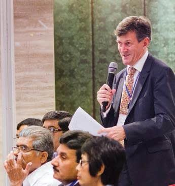 Dr. Mark Holderness, the Executive Secretary of the Global Forum on Agricultural Research (GFAR), asks a question.