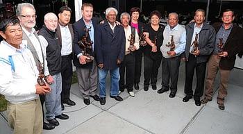 From left to right: José Juan Ramírez (1974-2014); Hans Braun; John Snape; Roberto Javier Peña (1971-2013); Guillermo Ortiz-Ferrara (1971-2010); Sanjaya Rajaram; Alfredo Valencia (1975-2013); María Dolores Mir (1971-2013); María Luisa Gómez (1974-2013); José Daniel De Teodoro (1969- 2013); Vicente Morales(1969-2013) and Ramón Gil Montoya (1969-2011). Photo: Mike Listman