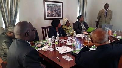 Peter Setimela addresses SADC ambassadors. Photo: Masego Forembi/Botswana Embassy.