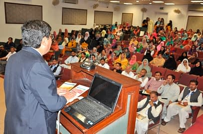 The audience takes a keen interest in the seminar's inaugural session. Photo: PMAS-UAAR.
