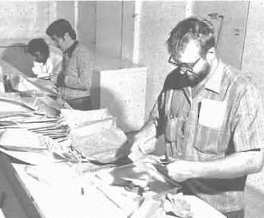 John Mihm working at CIMMYT in the 1980s.