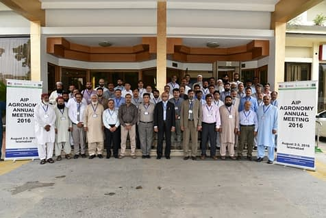 Participants in AIP Agronomy's 2016 meeting at held at the Islamabad Hotel, Islamabad, Pakistan. Photo: Mushtaq
