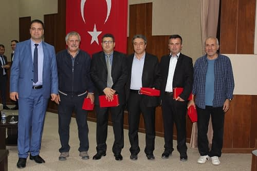 Presenters received with the director of PPCRI, Dr. Sait Ertürk. Photo Directorate of Plant Protection Central Research Institute of Turkey.
