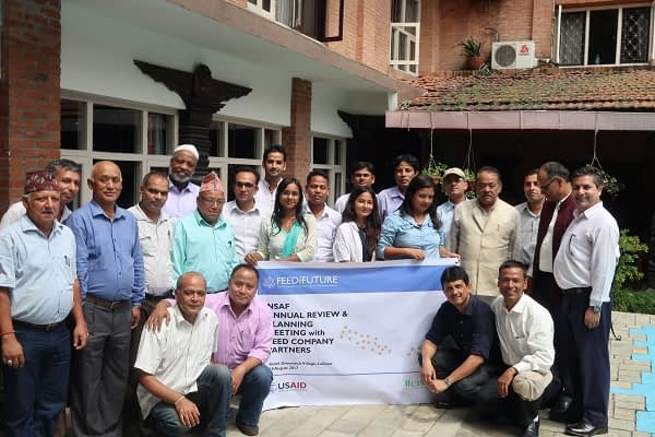Participants of NSAF seed company partners annual review and planning meeting, Kathmandu. Photo: K.Ram/CIMMYT-SARO