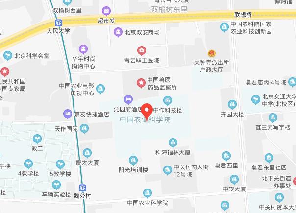 CIMMYT China location (Baidu map)