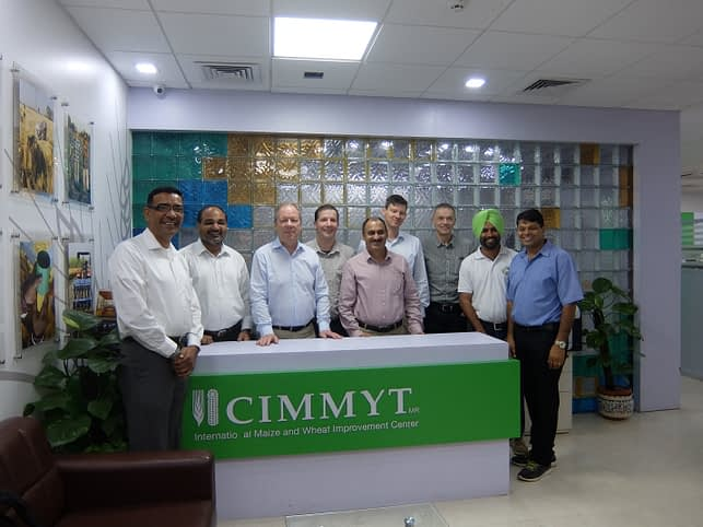 CIMMYT and Bayer's Crop Science team are looking for practical solutions to future challenges in South Asian agriculture. Photo: Deepak, CIMMYT