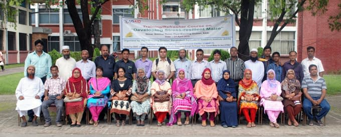 Participants in the course on developing stress-resilient maize. Photo: Bangladesh Agricultural Research Institute
