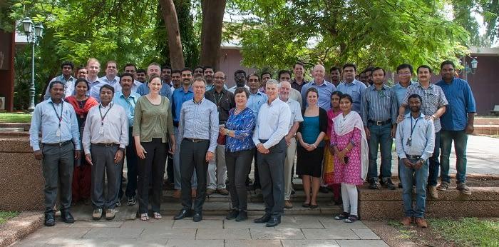 CIMMYT Delegation in Hyderabad, India, 26 August 2016. Photo: CIMMYT