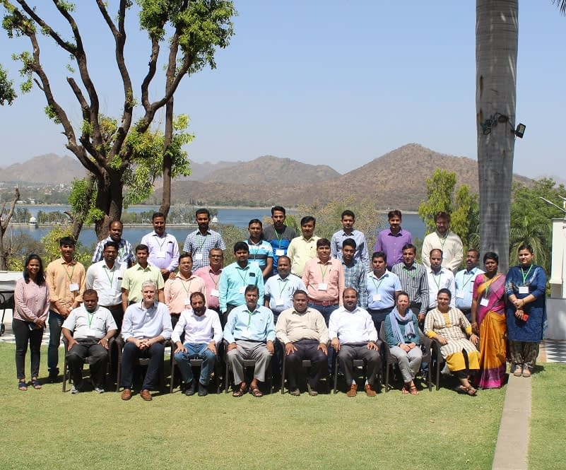 Group photo of participants at the fourth international workshop on farming system design in south Asia. Photo: CIMMYT.