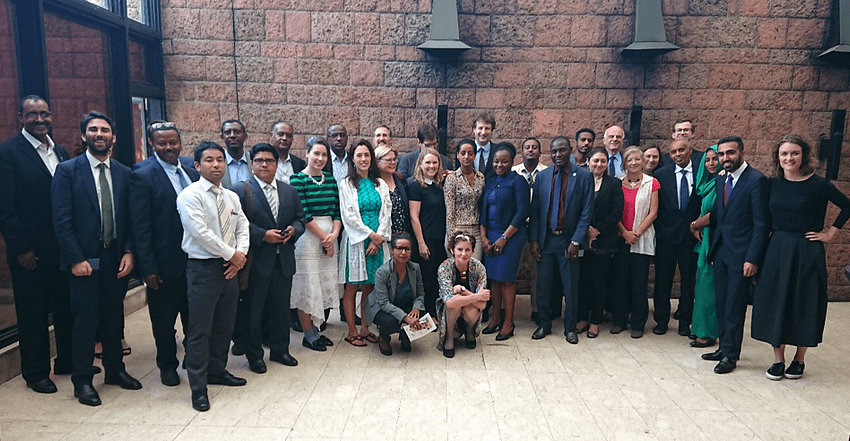 """Representatives of government, civil society, and research for development organizations participated in the """"Food Systems Dialogue on Ethiopia."""" (Photo: CIMMYT)"""