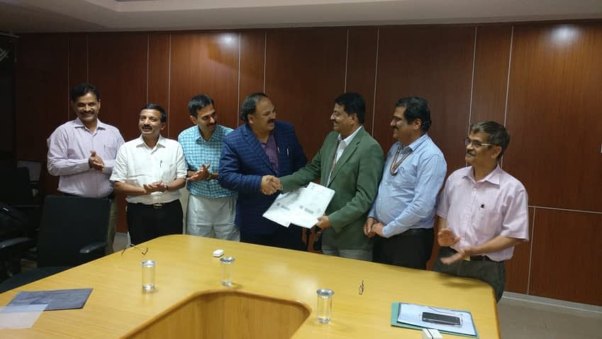 Representatives from CIMMYT and UAS-Bangalore signed the collaboration agreement on February 18, 2019.