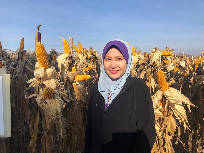 Visiting researcher Fazleen Abdul Fatah is studying the the growing importance of maize and wheat in emerging economies.