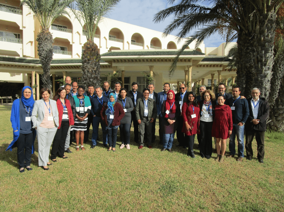 Participants of the Tunisia workshop collaborate on a group exercise.